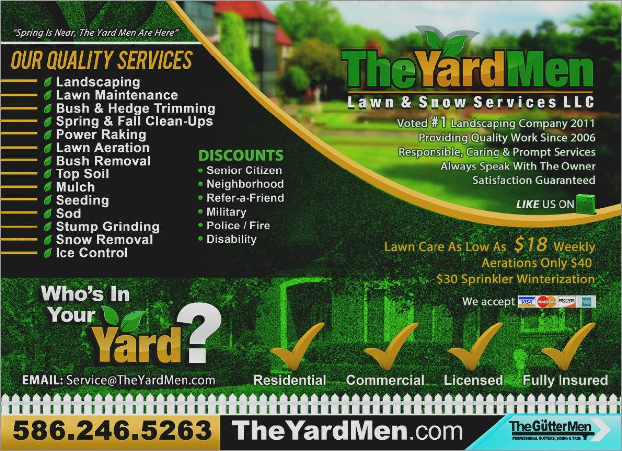 Best Of Free Landscaping Flyer Templates | Best Of Template - Free Printable Landscaping Flyers