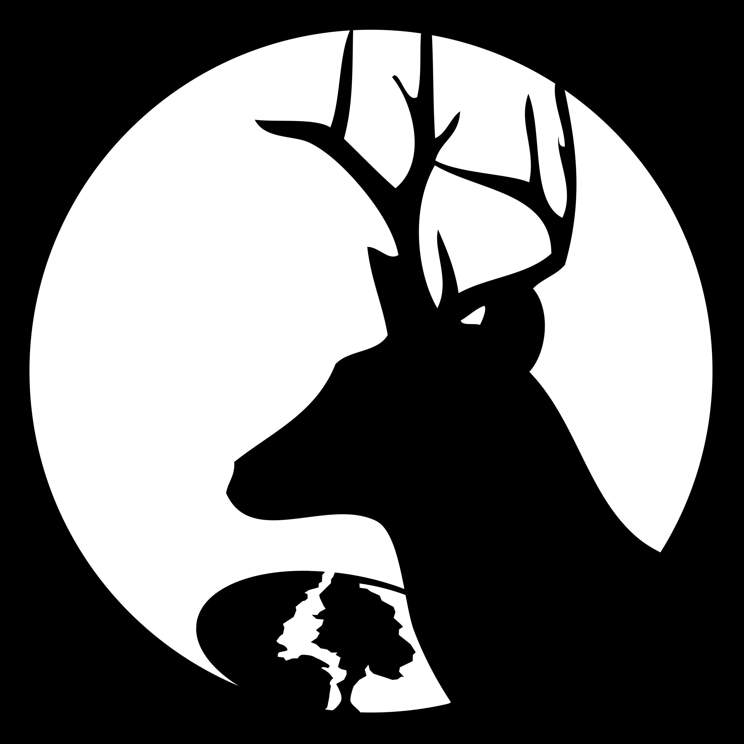 Best Whitetail Deer Pumpkin Stencil Vector File Free » Free Vector - Free Printable Deer Pumpkin Stencils