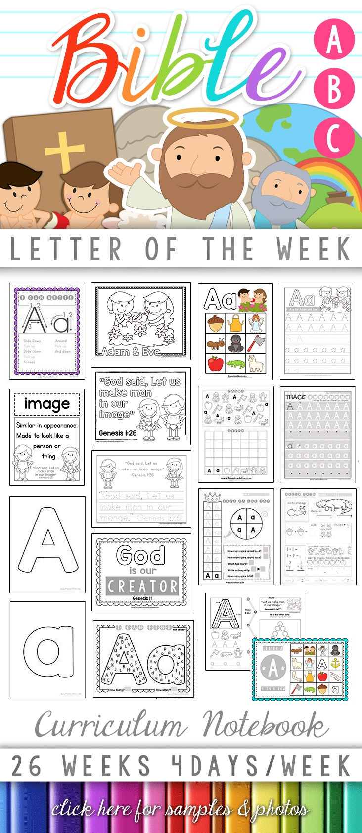 Bible Abc Printables - Christian Preschool Printables - Free Printable Bible Crafts For Preschoolers