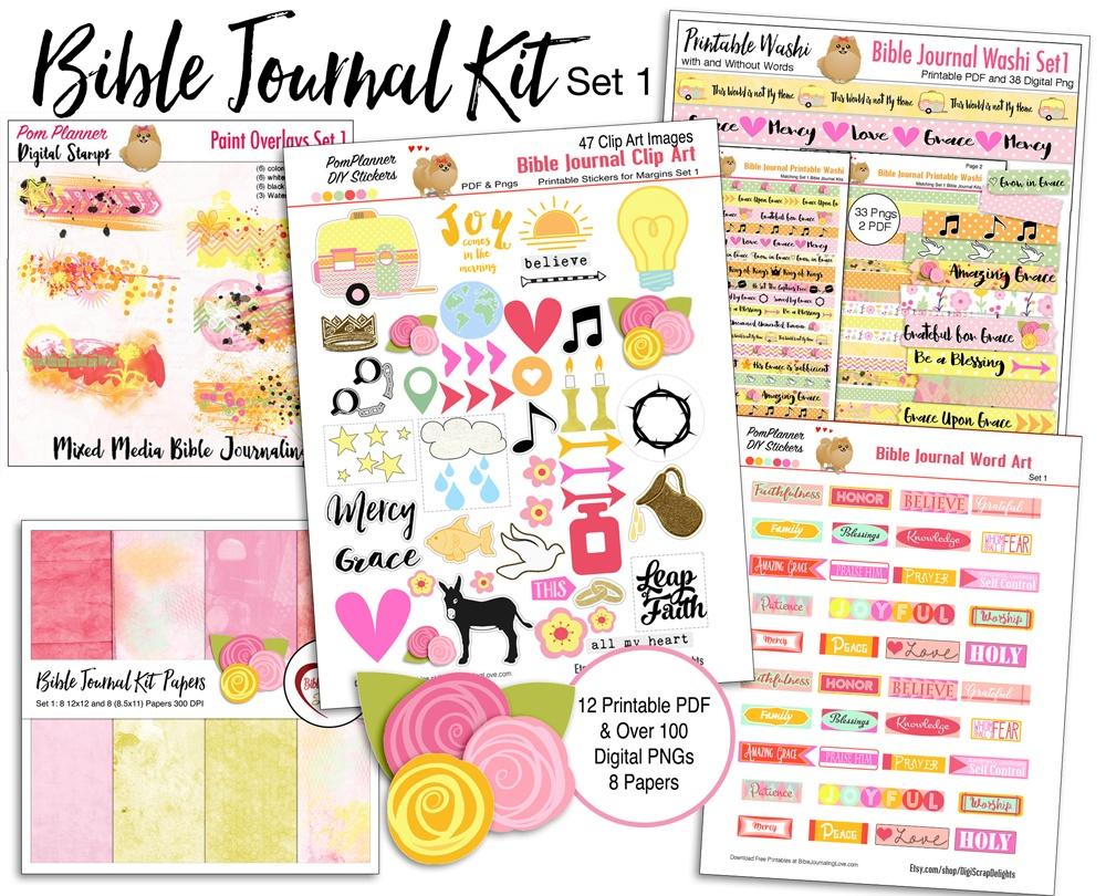 Bible Journal Kit & Free Printable – Bible Journal Love - Free Bible Journaling Printables