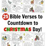 Bible Verse Advent Countdown For Kids   Free Printable | Christmas   Free Printable Advent Bible Study