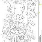 Big Bad Wolf Coloring Page. Little Red Riding Hood 18 Coloring Page   Little Red Riding Hood Masks Printable Free