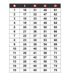 Bingo Call Sheet   How To Create A Bingo Call Sheet? Download This   Free Printable Bingo Cards And Call Sheet