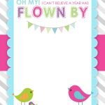 Bird Birthday Party With Free Printables | Creations | Free Birthday   Free Stork Party Invitations Printable
