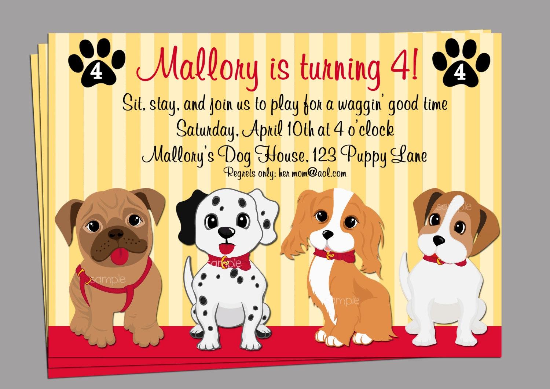 Birthday Invitation. Dog Birthday Invitations Free Printable - Free Printable Puppy Dog Birthday Invitations