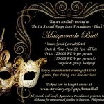 Birthday Party Invitations Free Templates | Gatsby | Fiesta   Free Printable Masquerade Birthday Invitations