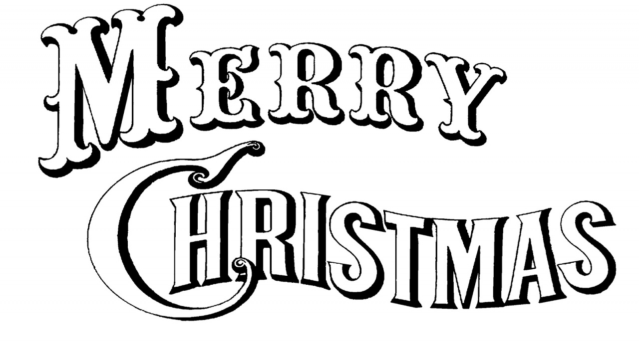 Black And White Merry Christmas | Free Download Best Black And White - Merry Christmas Stencil Free Printable