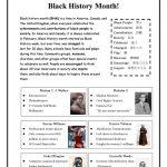 Black History Month! Worksheet   Free Esl Printable Worksheets Made   Free Printable Black History Month Word Search