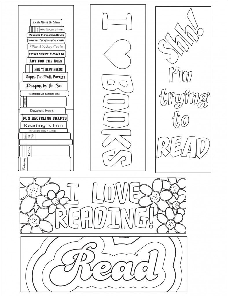 Blank Bookmark Template, Bookmark Template | Bookmarker Ideas - Free Printable Bookmarks Templates