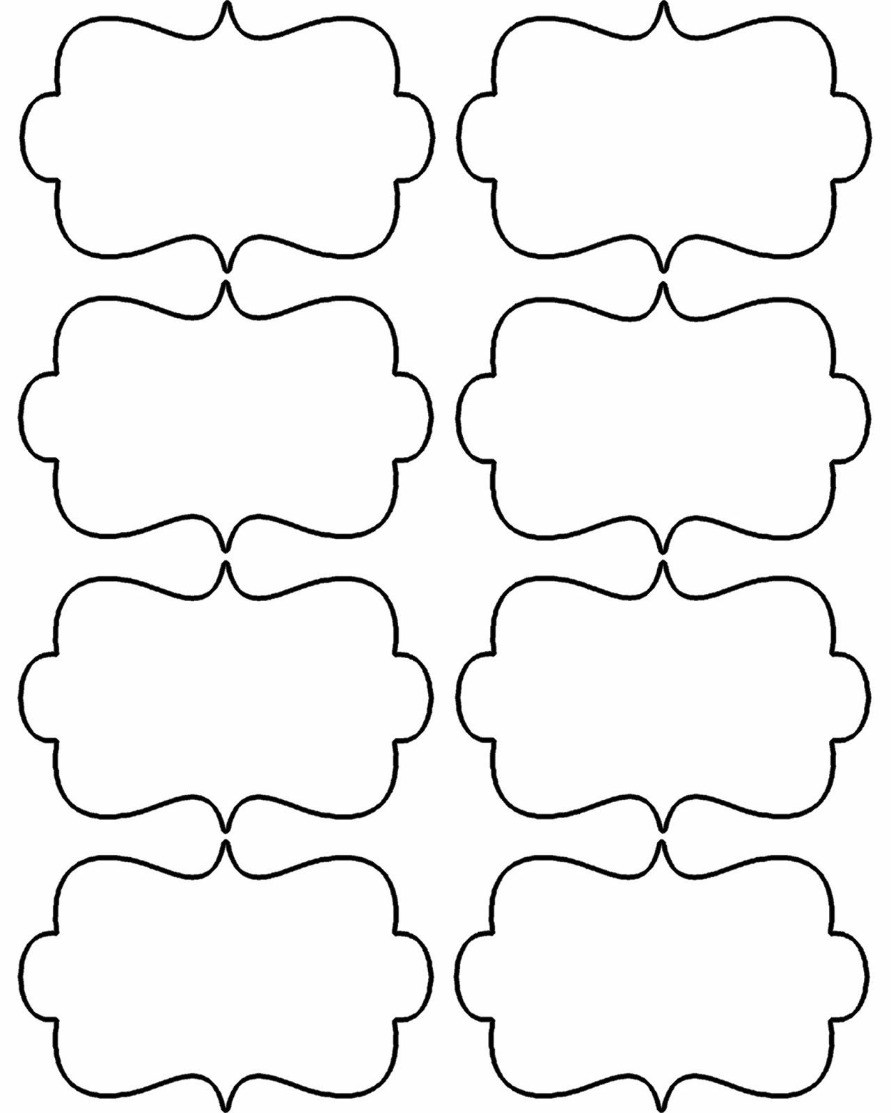 Blank Christmas Shapes Templates - Bing Images | Patterns - Fancy Labels Printable Free