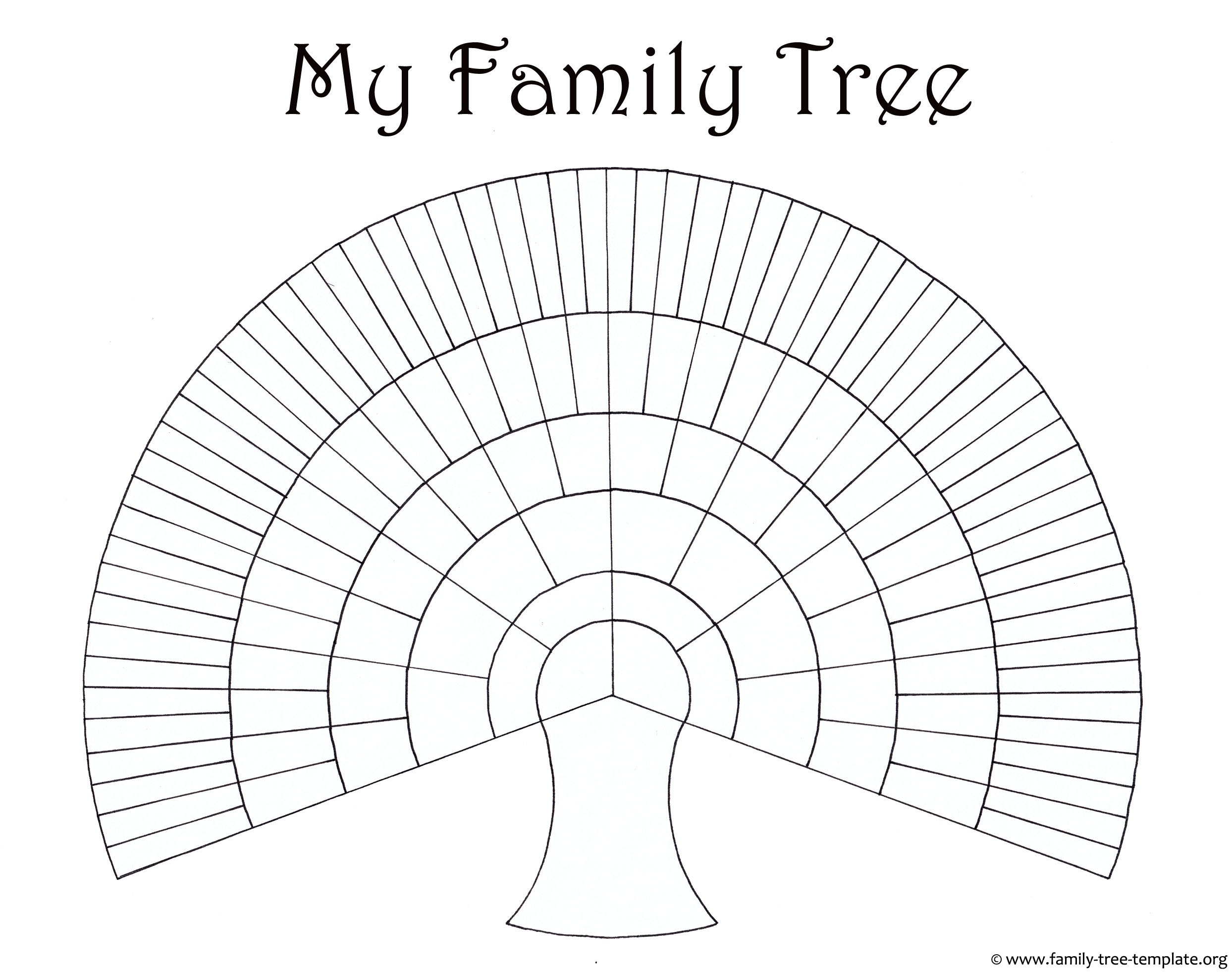 Blank Family Trees Templates And Free Genealogy Graphics - Free Printable Family Tree Charts