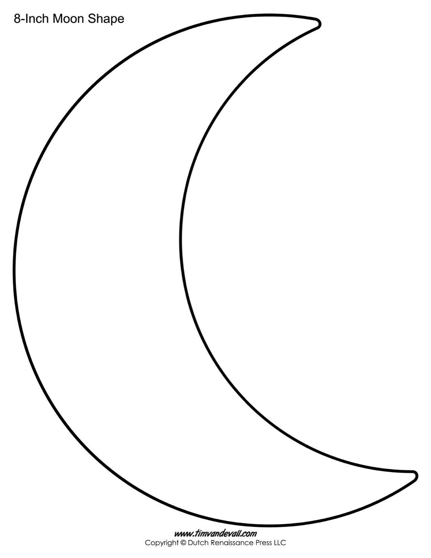 Blank Moon Templates   Printable Moon Shapes - Large Printable Shapes Free