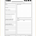 Blank Newspaper Templates Newspaper Template For Kids Printable On   Free Printable Newspaper Templates For Students