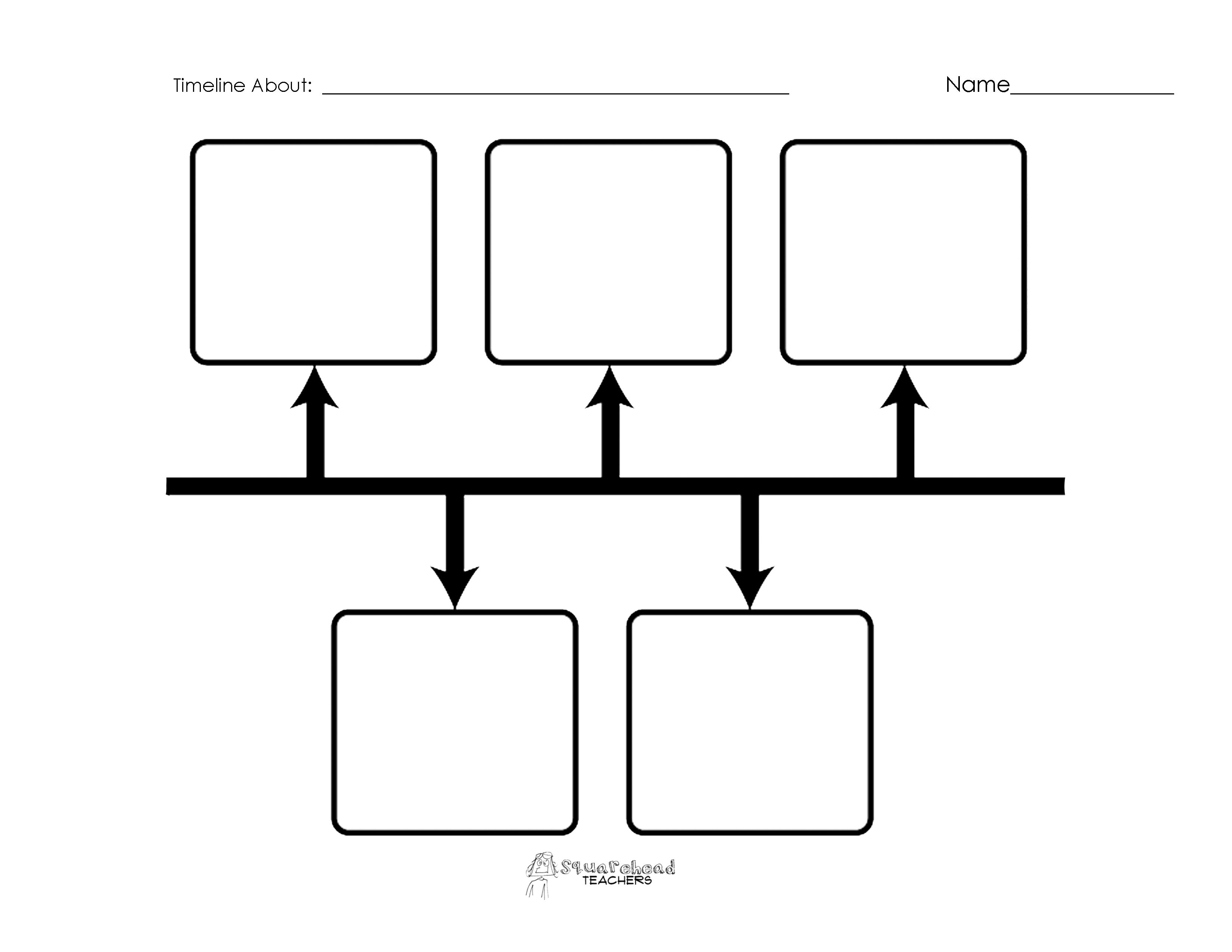 Blank Timelines-Great For Social Studies | Teacher Stuff | Graphic - Free Blank Timeline Template Printable