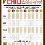 Block Party And Chili Cook Off Clipart   Google Search | Chili   Chili Cook Off Printables Free