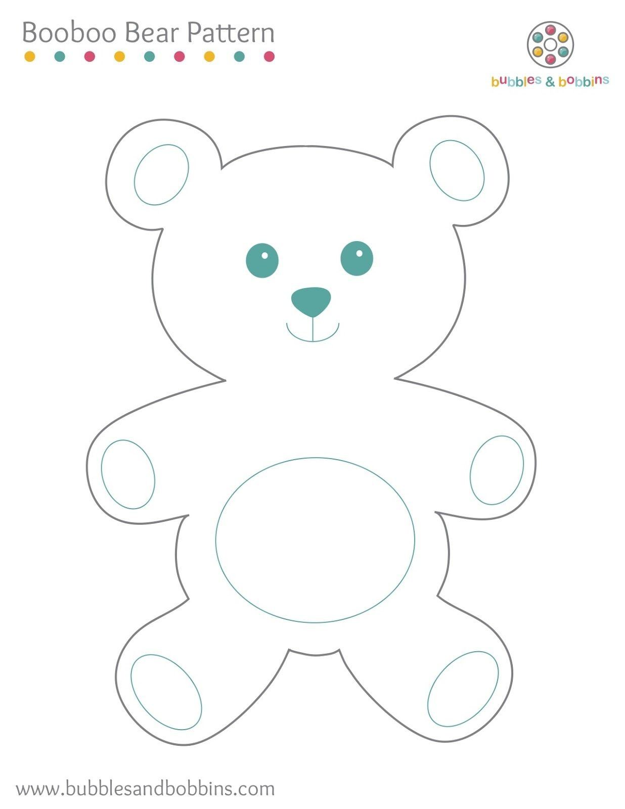 Booboo Bear Pattern | Stuffed Toy Patterns & Ideas | Teddy Bear - Free Printable Patchwork Teddy Bear Pattern