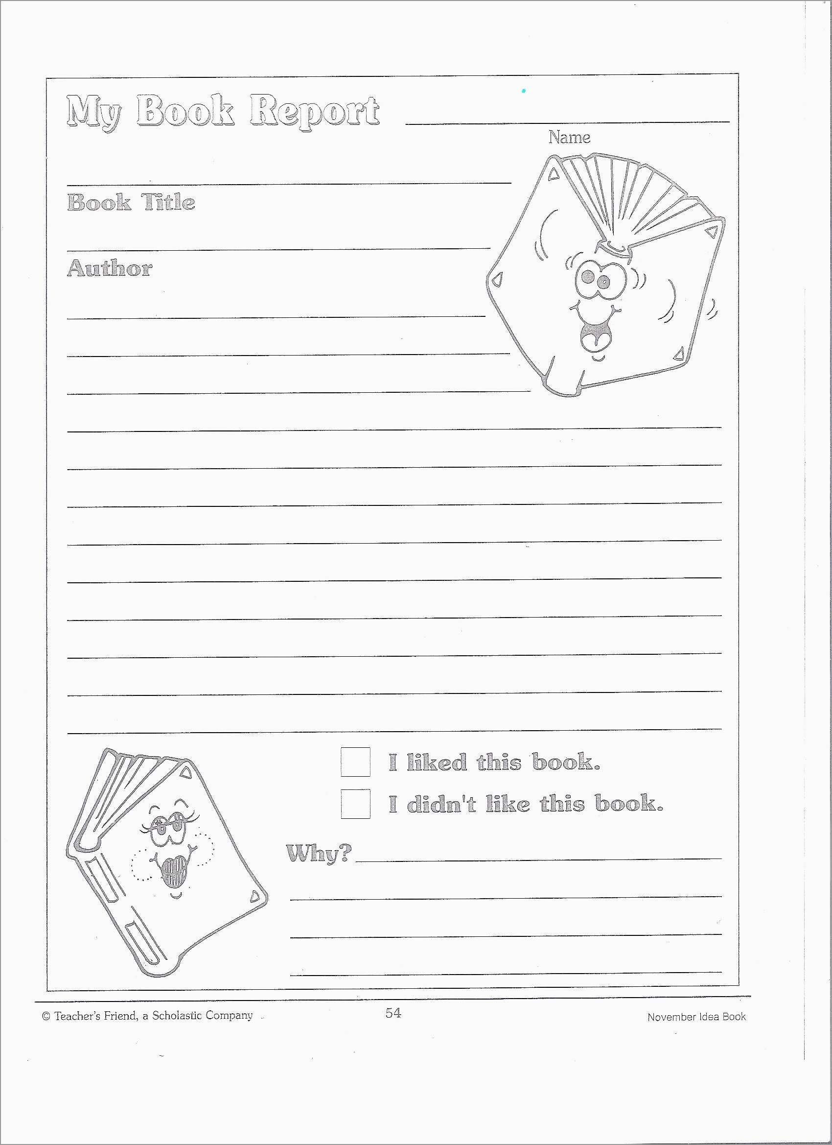Book Report Template 2Nd Grade Free Beautiful Grade 4 Book Report - Free Printable Book Report Forms For Second Grade