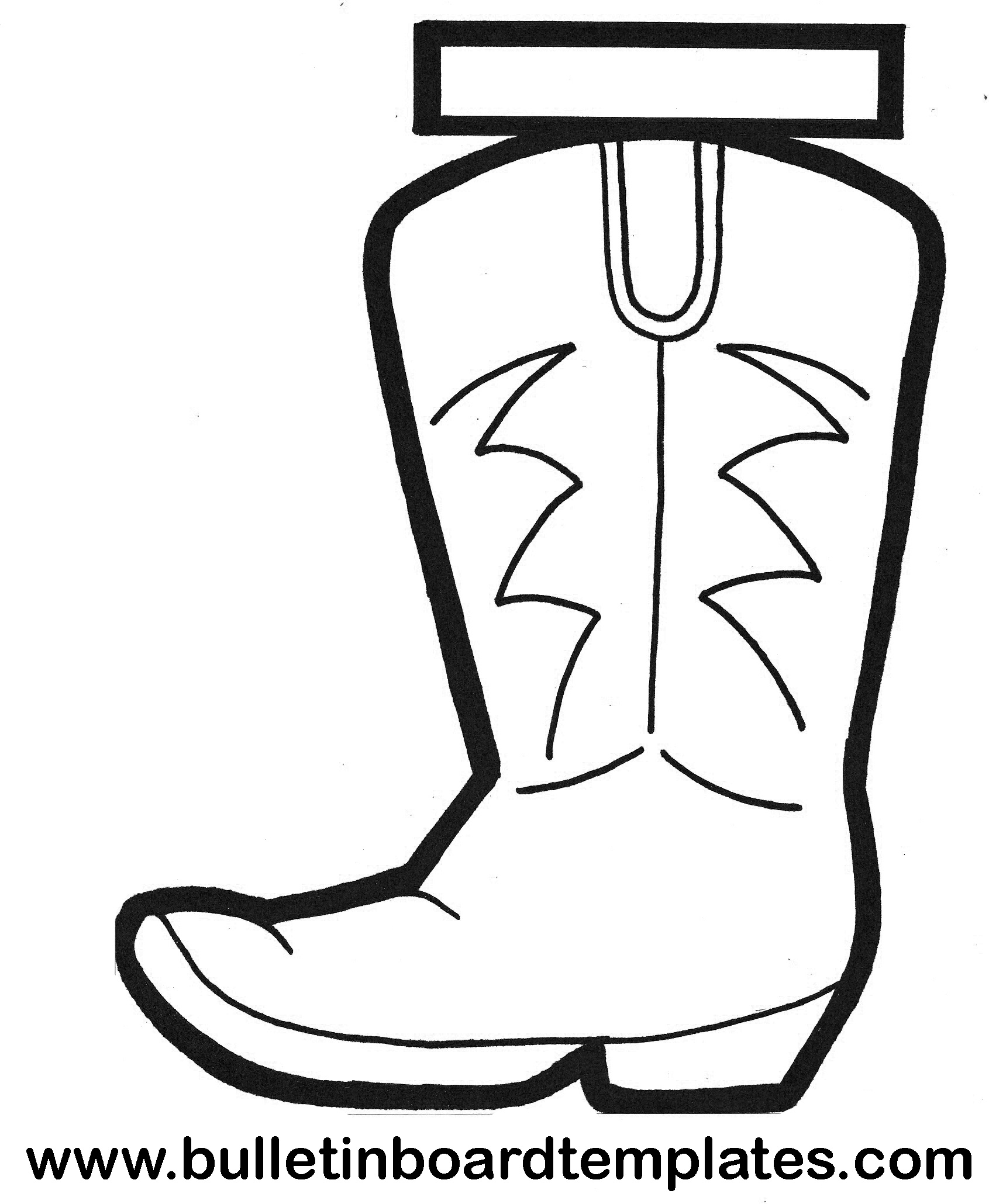 Boot Template. See All Module Positions Outline. Cowboy Boot - Free Printable Cowboy Boot Stencil