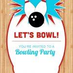 Bowling Party   Free Printable Birthday Invitation Template   Free Printable Bowling Birthday Party Invitations