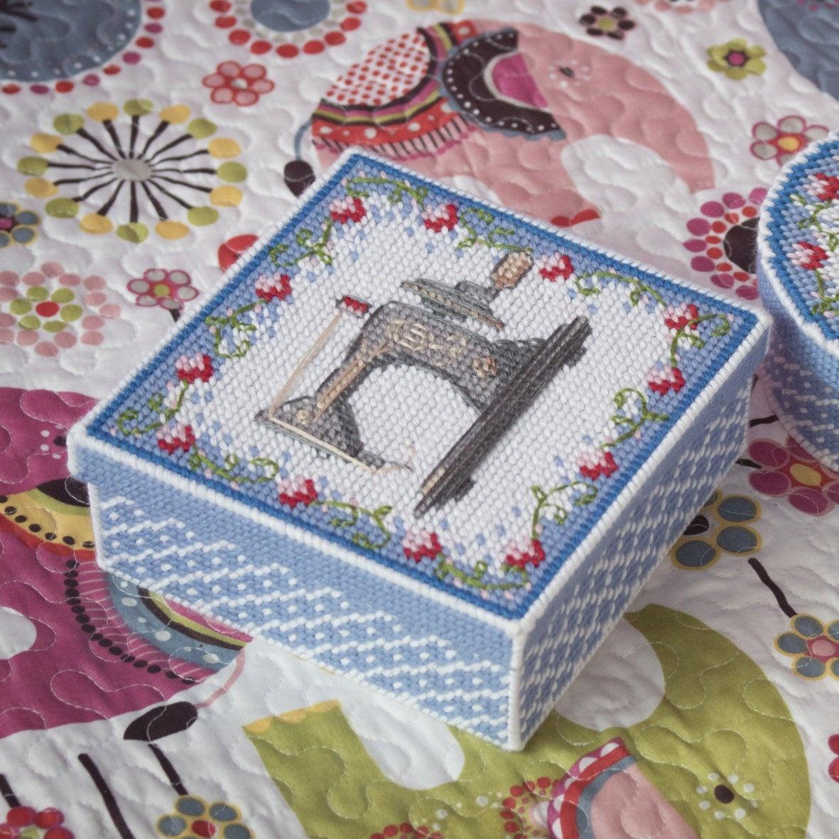 Box Plastic Canvas Patterns Free Tissue Box Cross Stitch | Etsy - Free Printable Plastic Canvas Tissue Box Patterns