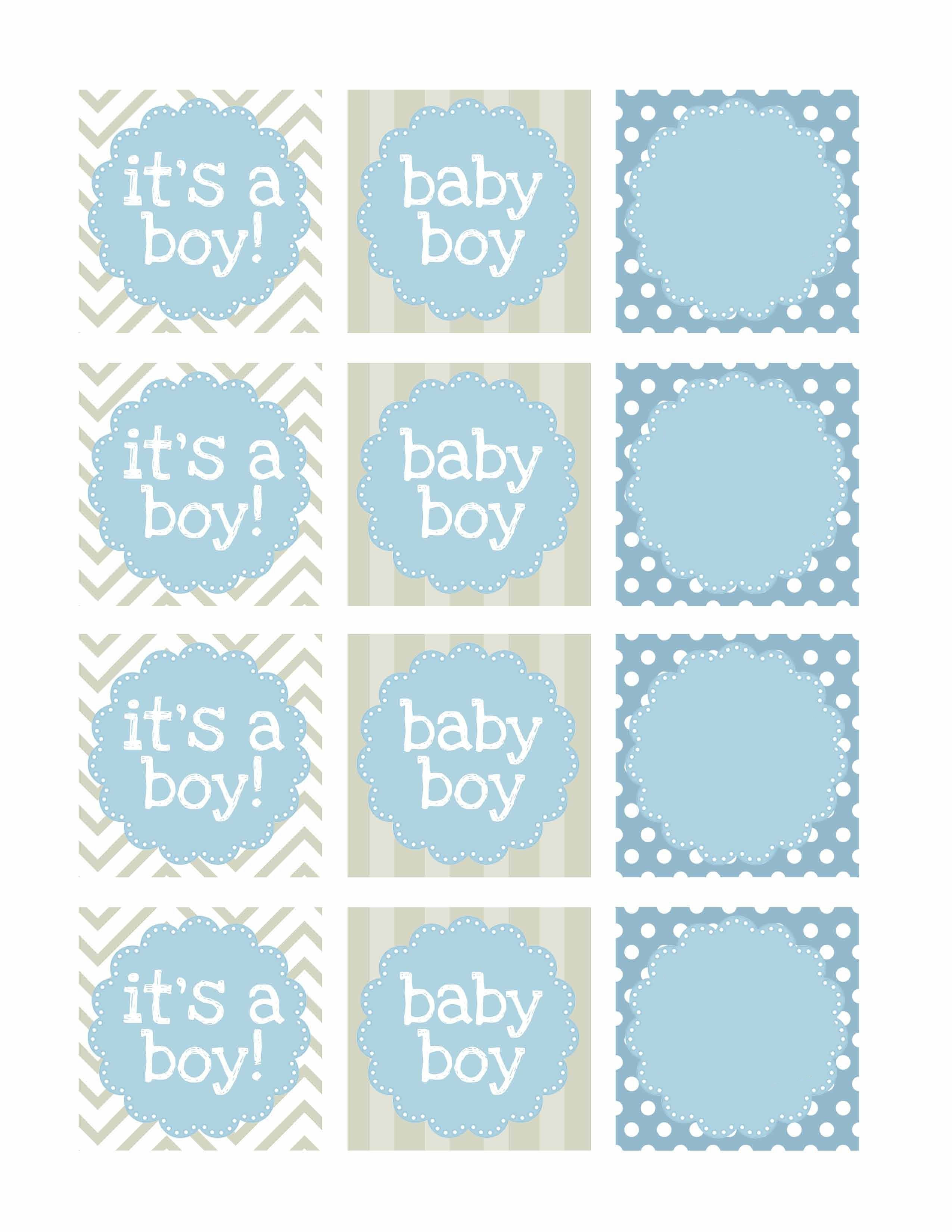 Boy Baby Shower Free Printables | Baby Shower | Baby Shower Labels - Free Printable Baby Shower Decorations For A Boy