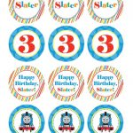 Boy Birthday, Thomas The Train, Custom Cupcake Toppers, Favor Tags   Free Printable Thomas The Train Cupcake Toppers