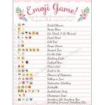 Bridal Shower Emoji Game   Fun Unique Games Diy Pdf Wedding   Emoji Bridal Shower Game Free Printable