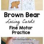Brown Bear Lacing Cards Busy Bag   Preschool Inspirations   Free Printable Lacing Cards