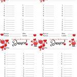 Bunco Free Printable Valentine's Fondue Champagne Score Sheet   Free Printable Bunco Score Sheets