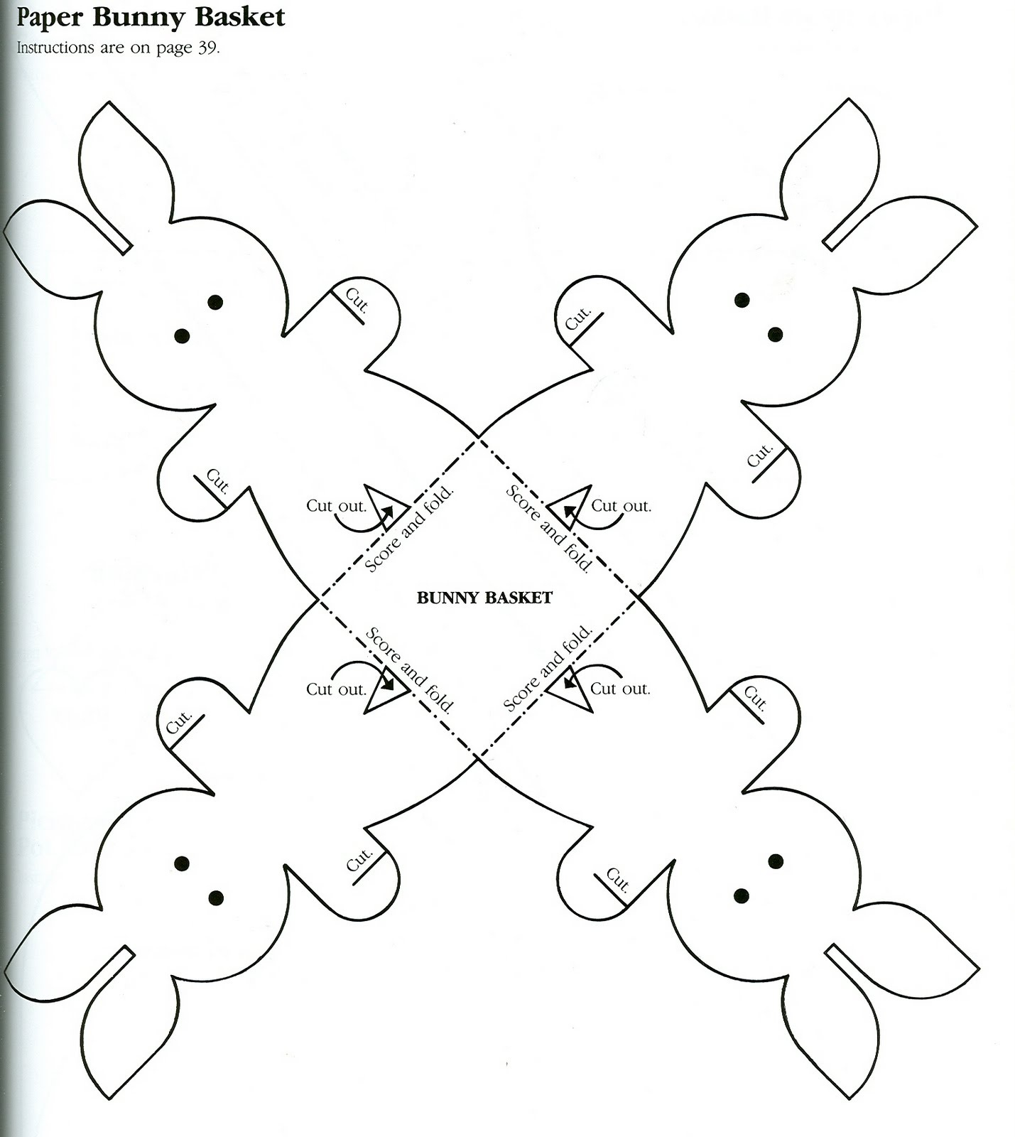 Bunny Easter Basket Printable – Hd Easter Images - Free Printable Easter Baskets