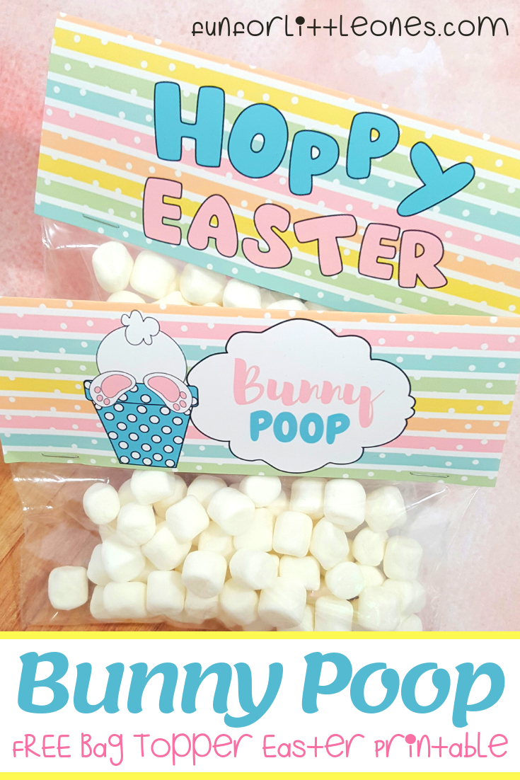 Bunny Poop Easter Bag Topper Party Favor - Free Printable - Fun For - Free Printable Bag Toppers