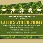 Camouflage Birthday Invitation Printable Or Printed With Free | Etsy   Free Printable Camouflage Birthday Cards