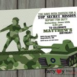 Camouflage Party Invitation Template • Invitation Template Ideas   Free Printable Camouflage Birthday Cards