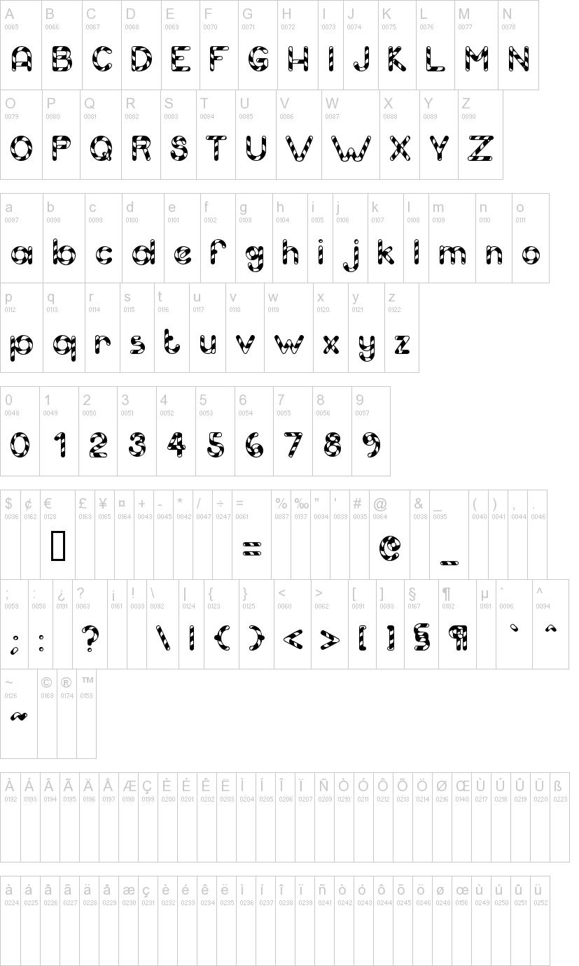 Candy Cane Font | Dafont - Free Printable Fonts No Download