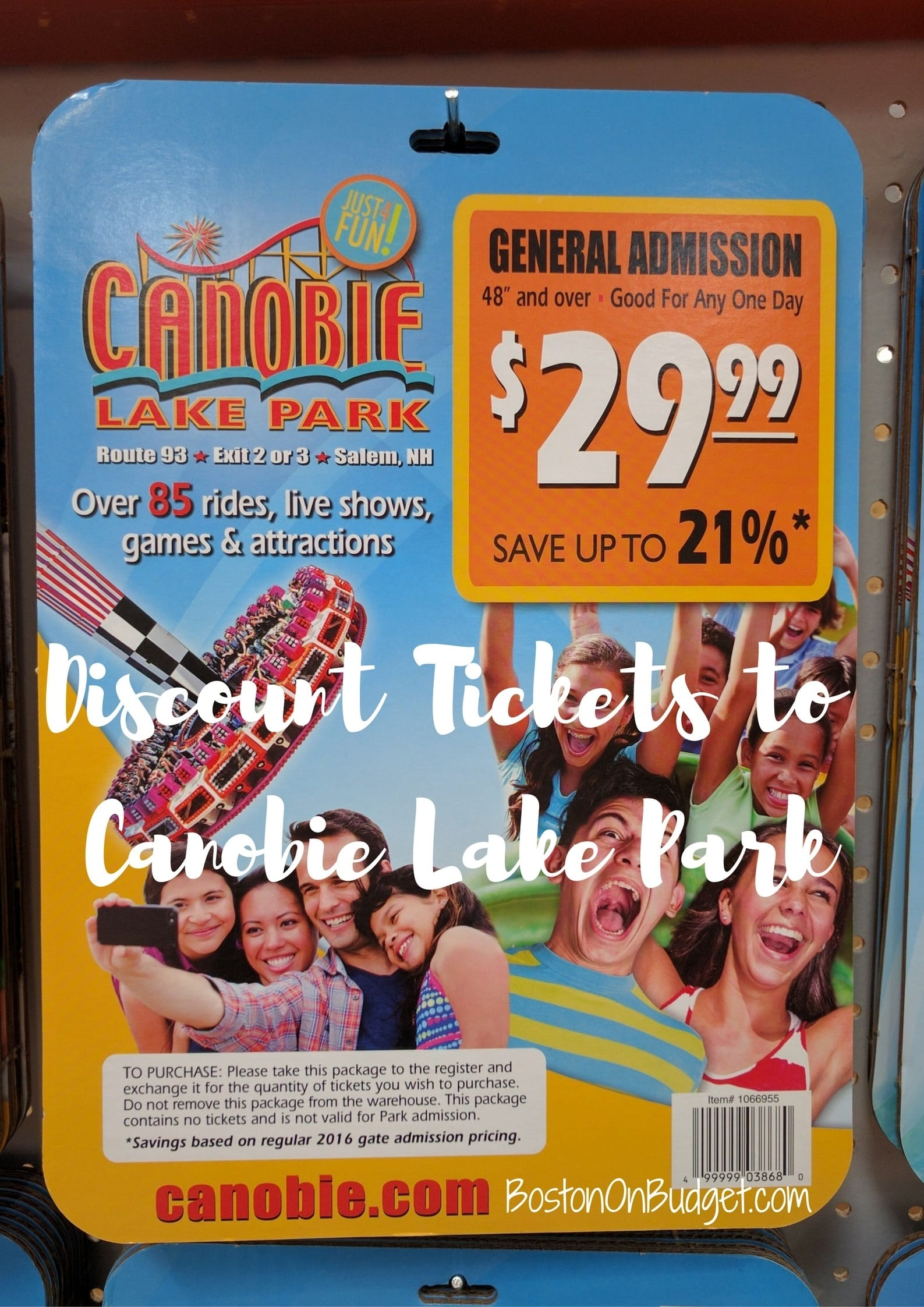 Canobie Lake Park Discounts - Boston On Budget - Free Printable Coupons For Canobie Lake Park