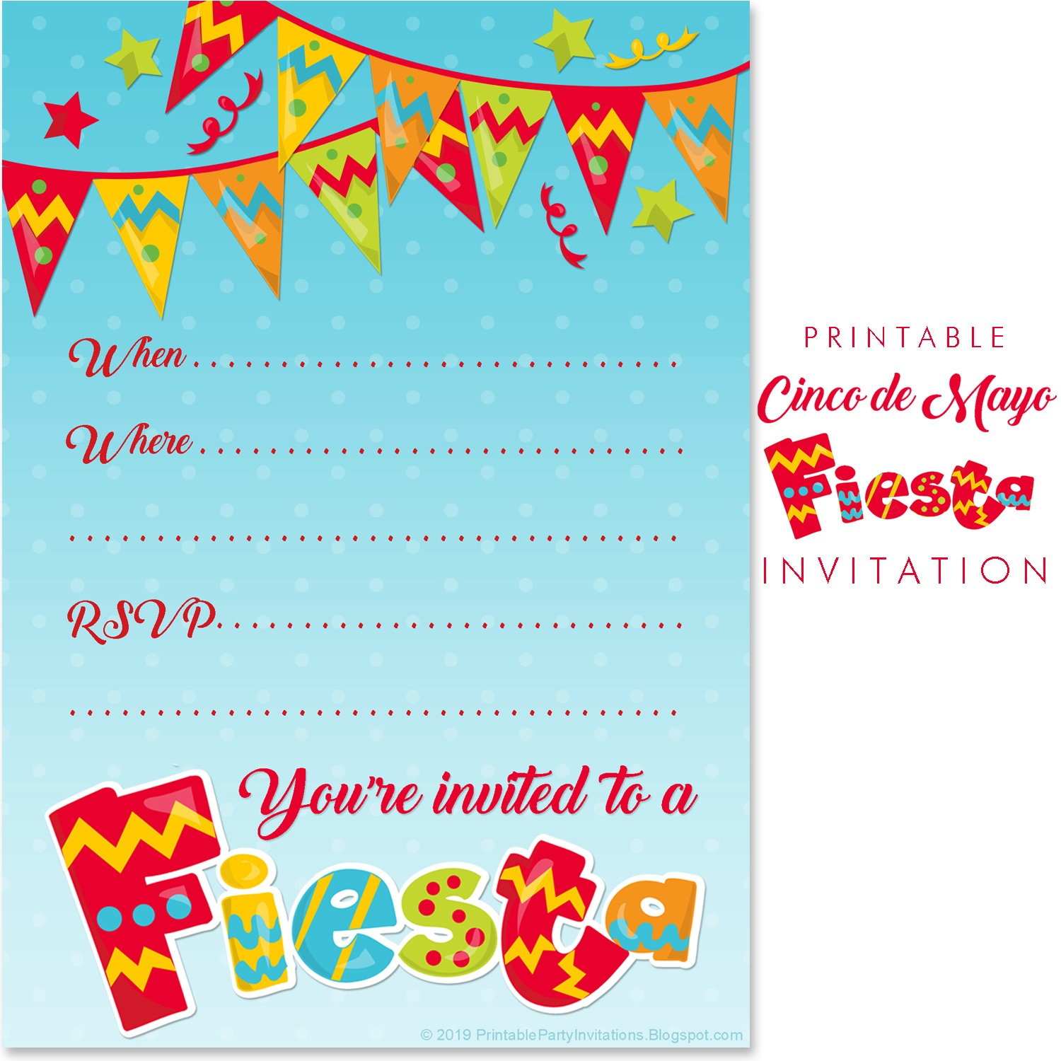 Can't Find Substitution For Tag [Post.body]--> Mexican Fiesta Party - Free Printable Fiesta Invitations