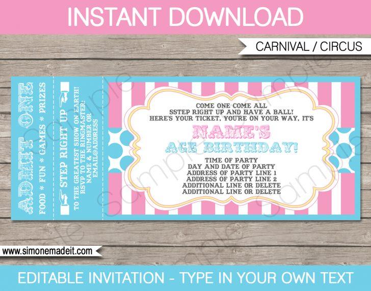 Free Printable Ticket Invitations