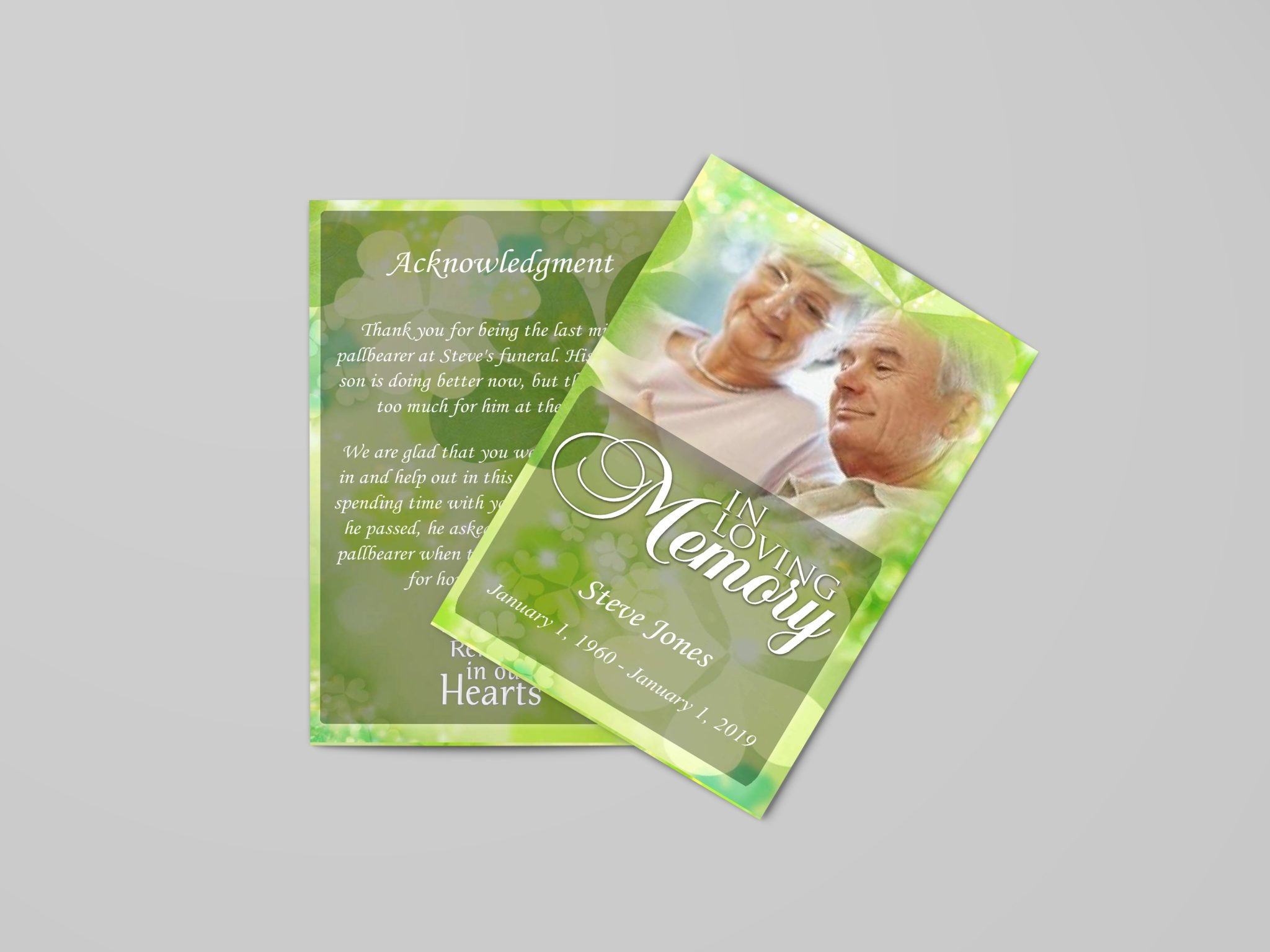Celtic Irish Green Funeral Program Template | Quickfuneral Llc - Free Printable Funeral Programs