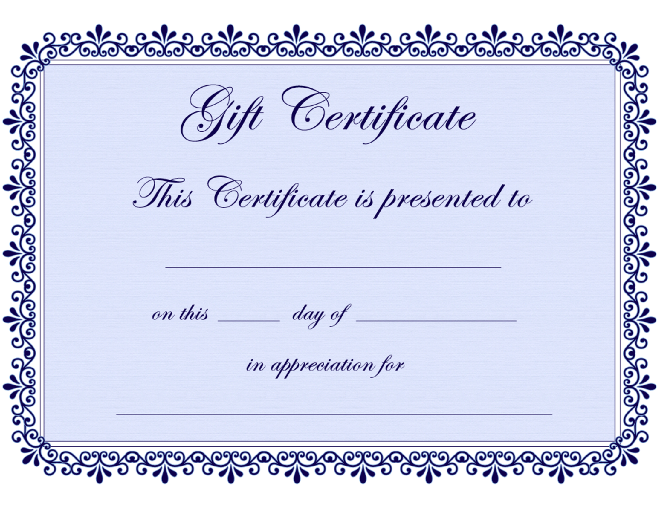 Certificate Templates | Gift Certificate Template Free - Pdf - Free Printable Gift Certificate Template