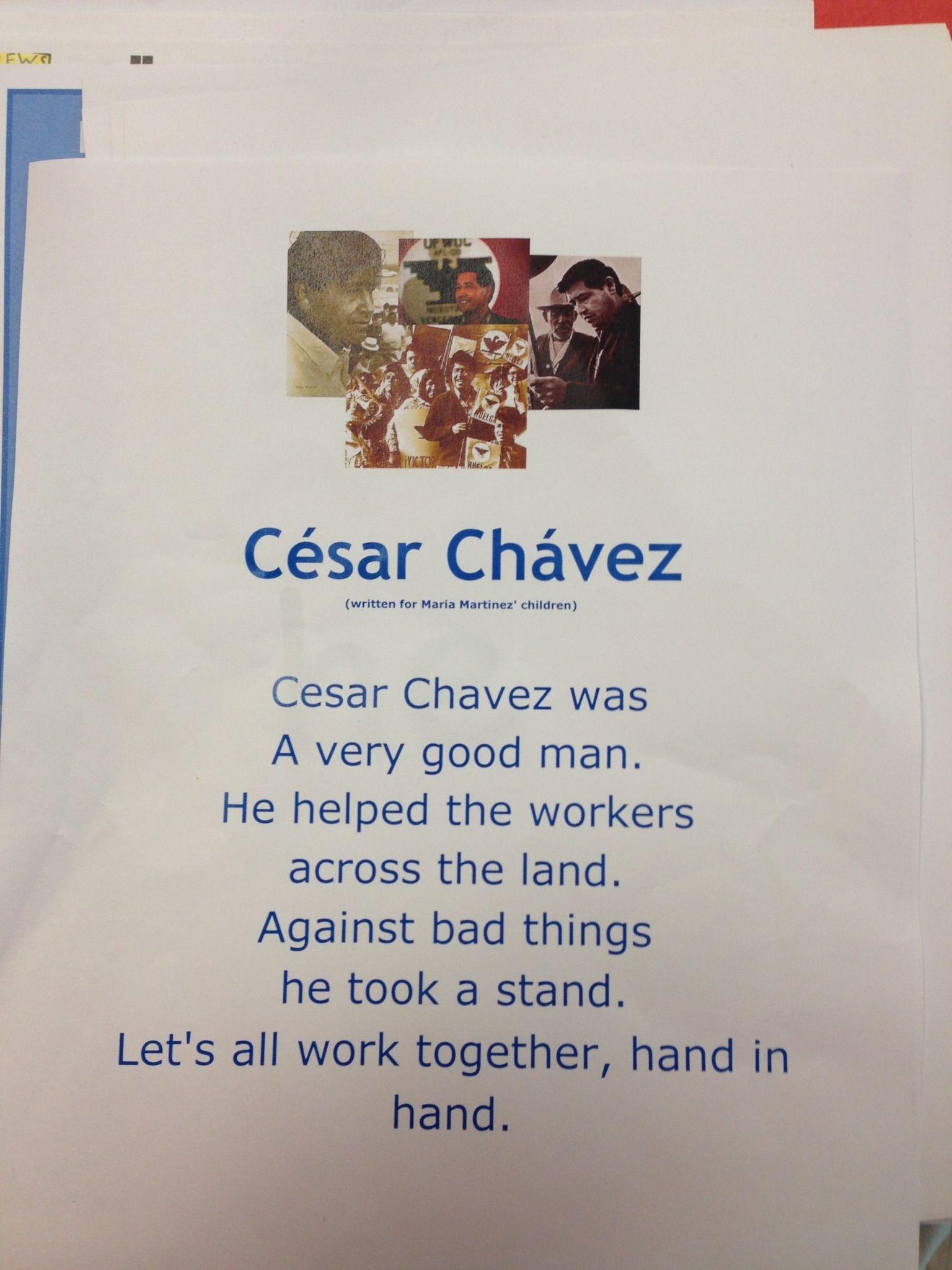 Cesar Chavez Poems | Social Studies | 3Rd Grade Social Studies - Cesar Chavez Free Printable Worksheets