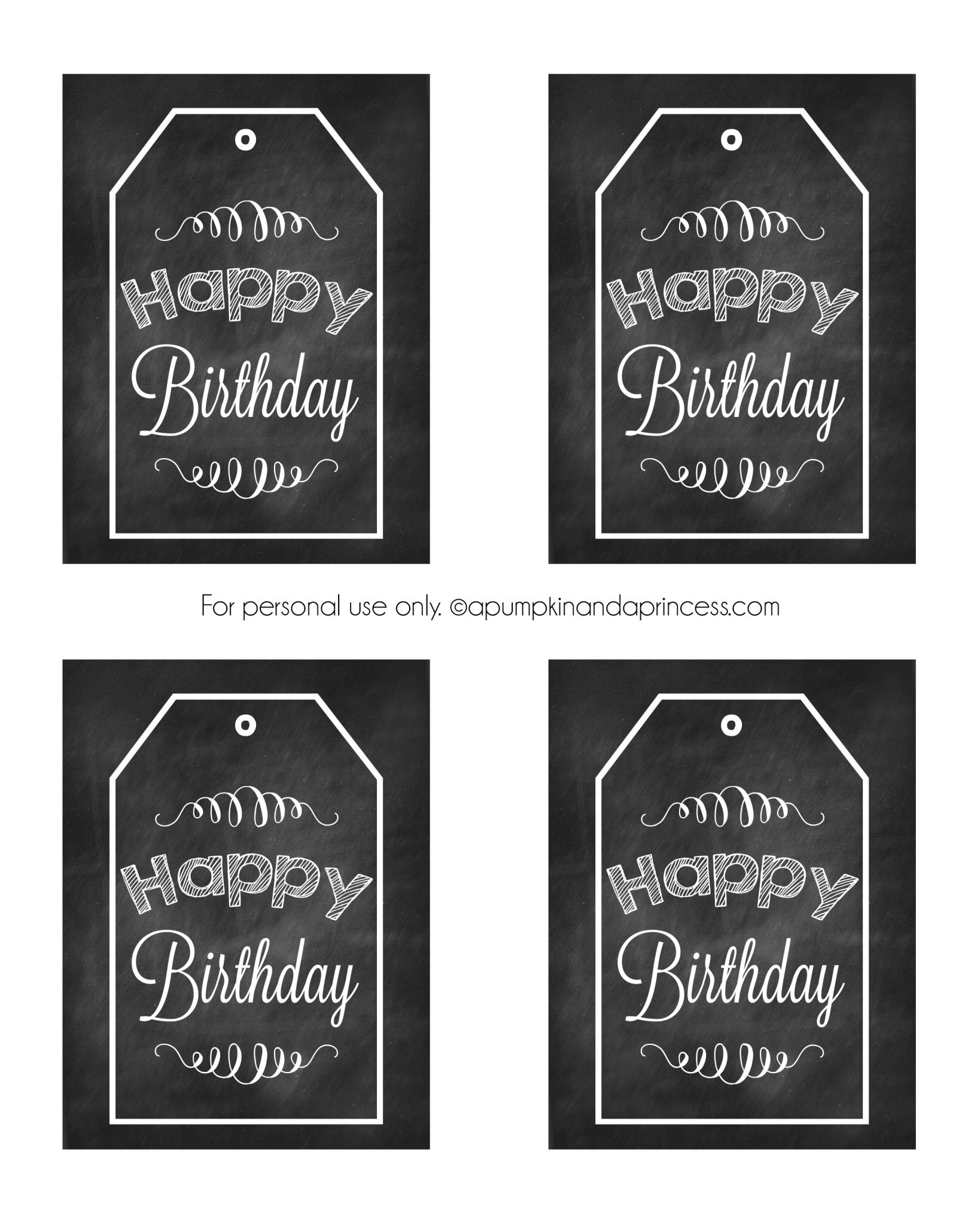 Chalkboard Birthday Tag Printable | Printables | Birthday Tags - Free Chalkboard Printables
