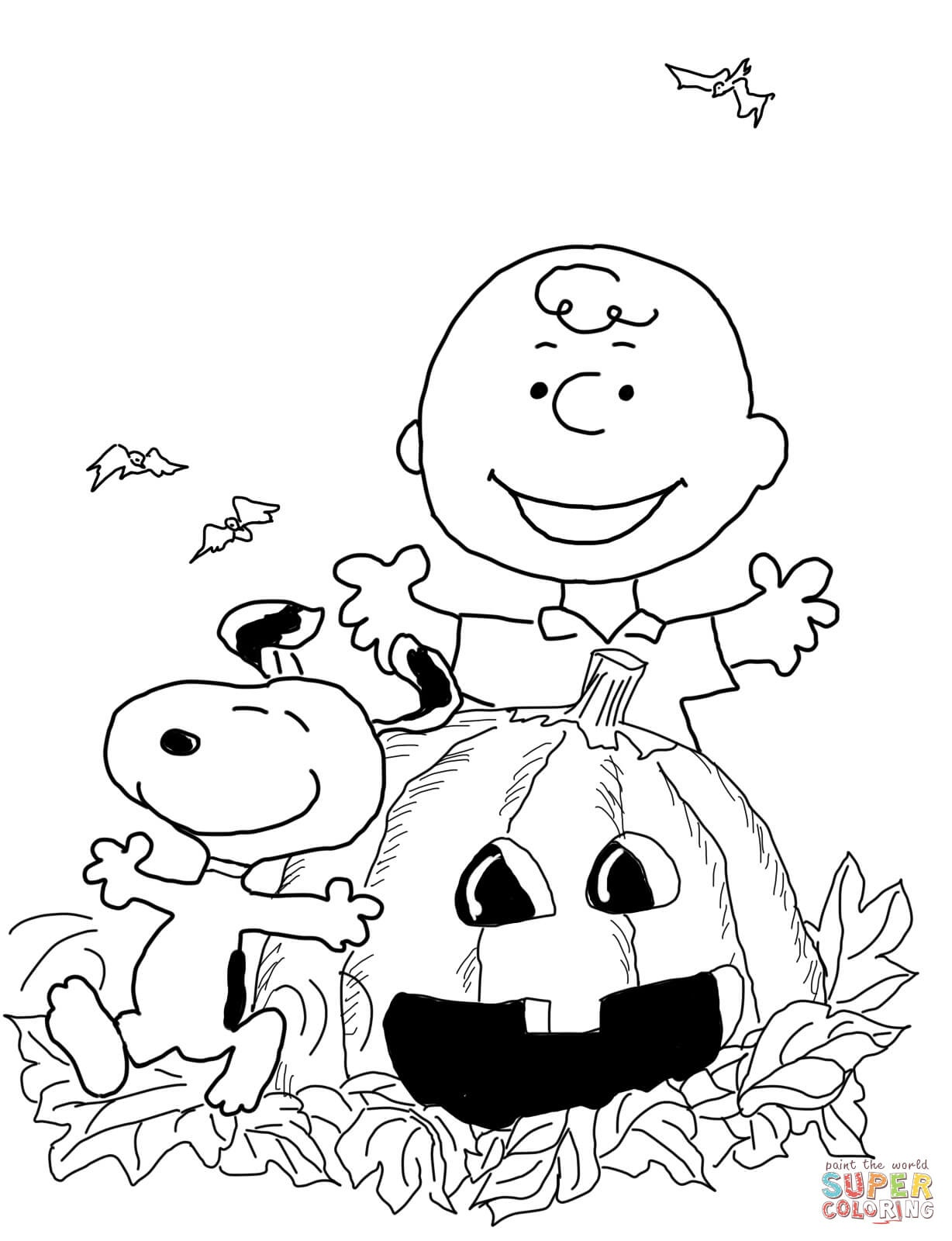Charlie Brown Halloween Coloring Page | Free Printable Coloring Pages - Free Online Printable Halloween Coloring Pages