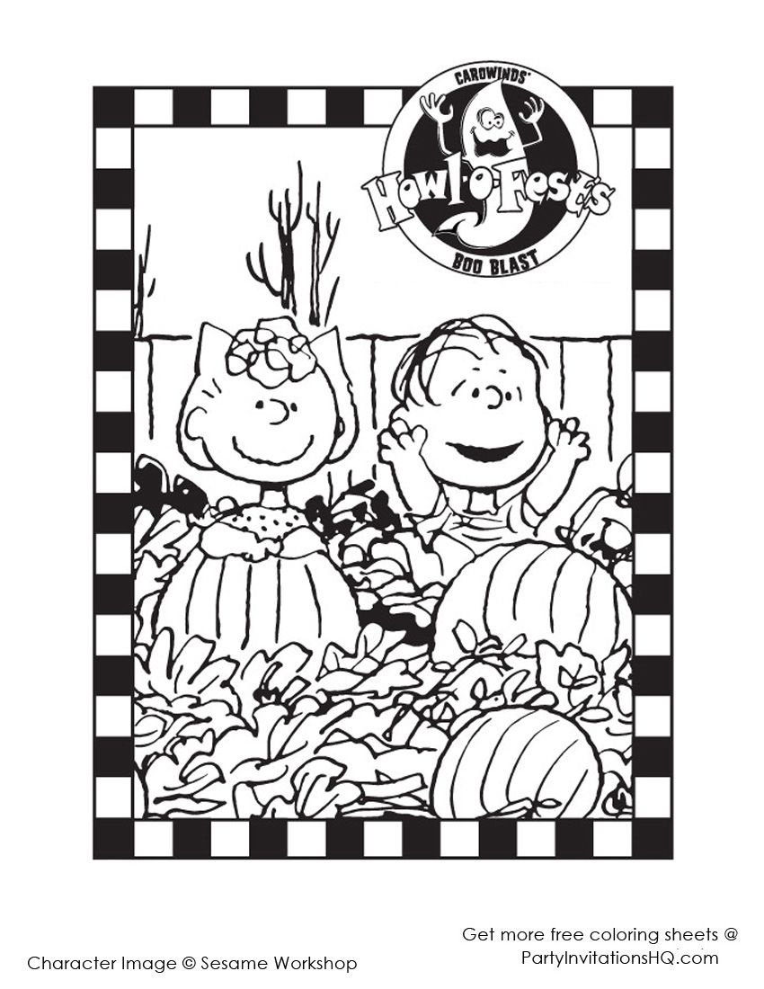 Charlie Brown Halloween | Love To Laff | Snoopy Halloween, Halloween - Free Printable Charlie Brown Halloween Coloring Pages