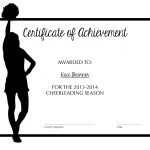Cheerleading Certificate Of Achievement | Cheer | Cheer Coaches   Free Printable Cheerleading Certificates