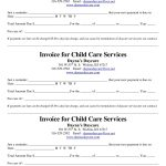 Child Care Receipt/invoice | Jordi Preschool | Invoice Template   Free Printable Daycare Receipts
