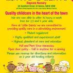 Childcare Leaflet Design For Little Saints Daycare Nurserywww   Free Printable Daycare Flyers