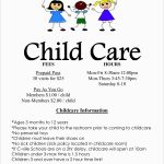 Childcare Newsletter Templates Free Best Of Best Free Printable   Free Printable Daycare Flyers