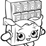 Chocolate Cheeky Shopkin Coloring Page | Free Printable Coloring   Shopkins Coloring Pages Free Printable