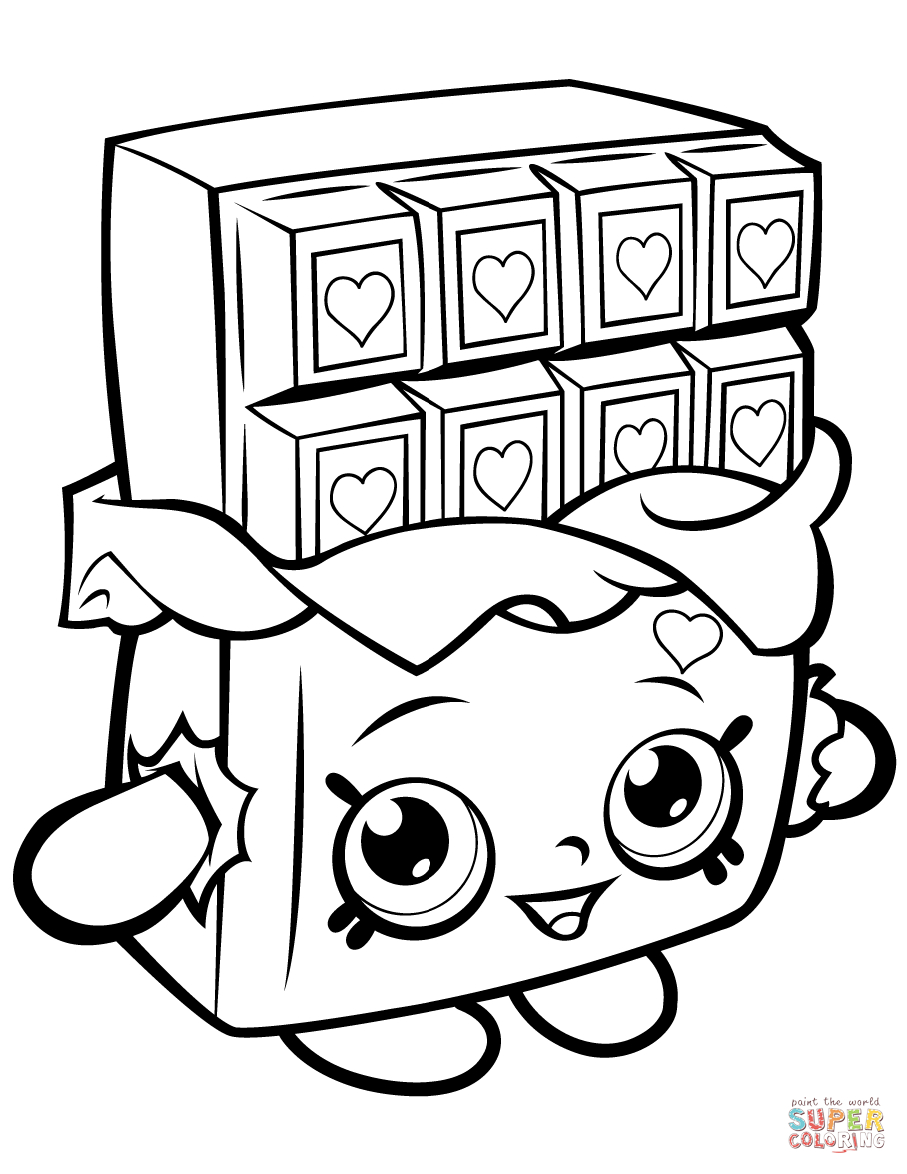 Chocolate Cheeky Shopkin Coloring Page | Free Printable Coloring - Shopkins Coloring Pages Free Printable