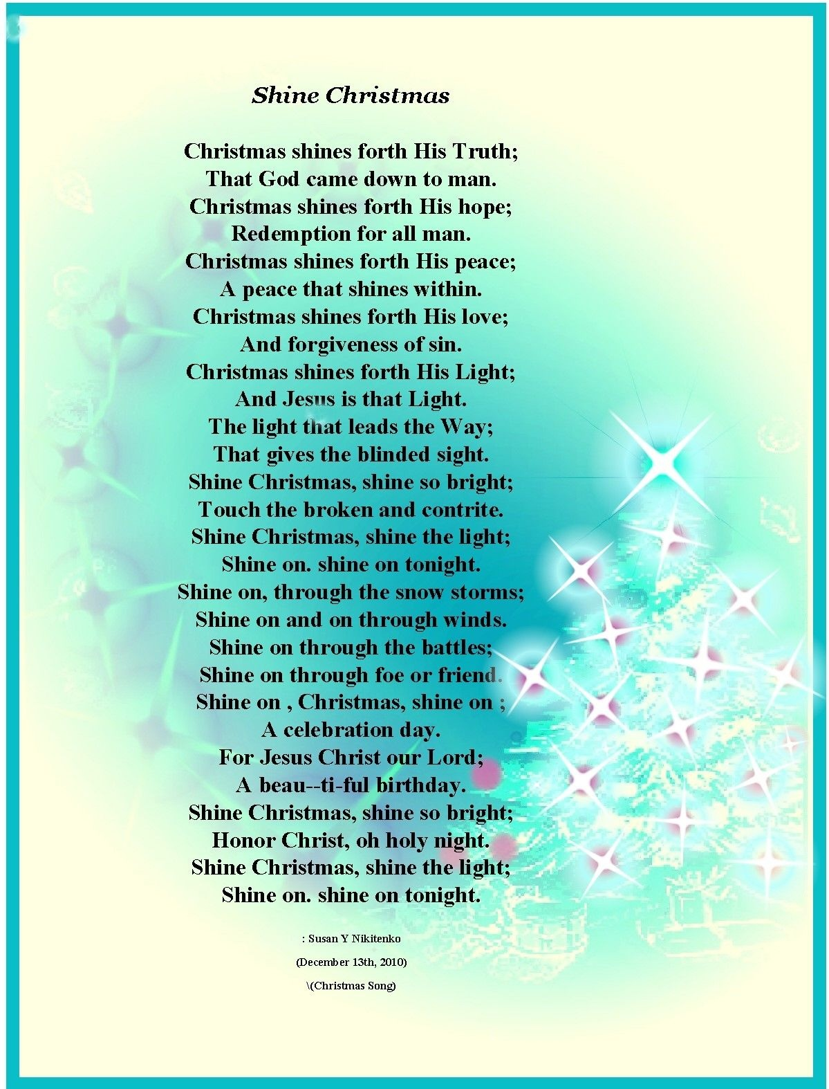 Christian Christmas Poems About Angels | Christian Images In My - Free Printable Christian Christmas Poems